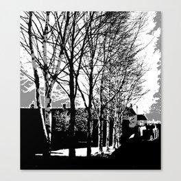 Town Trees Canvas Print