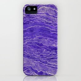 Violet watercolor marble iPhone Case