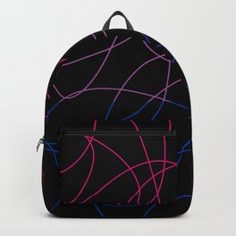 Abstract Threads – Bisexual Pride Flag Backpack