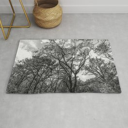 Black and white trees Rug