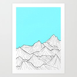 Glacier Mounts Art Print