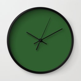 Mughal Green - solid color Wall Clock