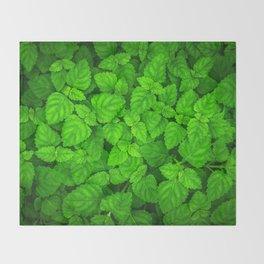 Deep Forest Leaves. Throw Blanket