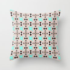 Mosaic pattern geometric marbled I Throw Pillow