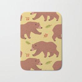 Bears & berries Bath Mat