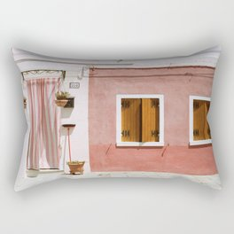 Sunny pink house Rectangular Pillow