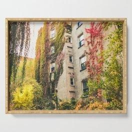 Autumn - New York City - East Village Garden Serving Tray
