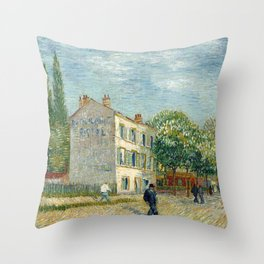 The Restaurant Rispal in Asnières Throw Pillow