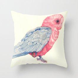 Pink parrot Throw Pillow