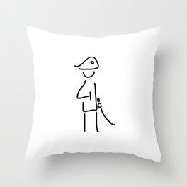 Napoleon the military officer Throw Pillow