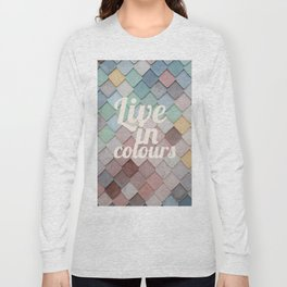 Talkers #4 Live in clolours Long Sleeve T-shirt