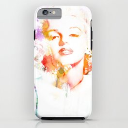 Marilyn Monroe Watercolor Pop Art33 iPhone Case