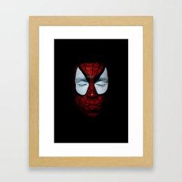 floating spidey Framed Art Print