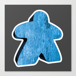 Giant Blue Meeple Canvas Print