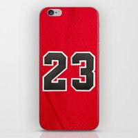 chicago bulls iPhone & iPod Skins featuring Michael 23 Jordan Chicago Bulls by Rorzzer