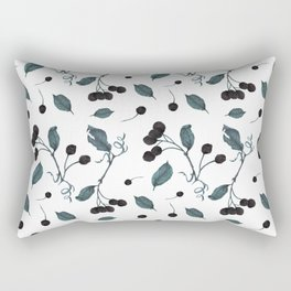 Winter Chokeberry Pattern Rectangular Pillow