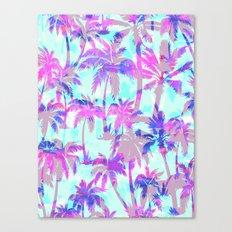 Maui Palm {Pink} Canvas Print
