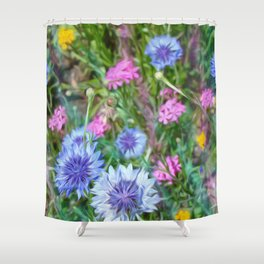 Cornflower Party Shower Curtain