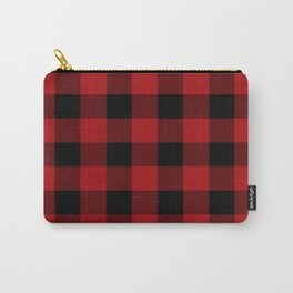 Red & Black Buffalo Plaid Carry-All Pouch