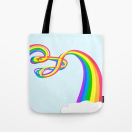 Spaghetti Rainbow Tote Bag