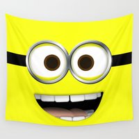 minion Wall Tapestries featuring minion *new* by cbrocoff