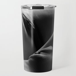 0876s-HB Explicit B&W Art Nude Two Women Intimate Close Up Travel Mug