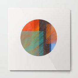 Abstract Planet illustration Metal Print