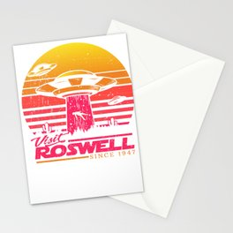 Roswell UFO conspiracy theory Area 51 gift Stationery Cards