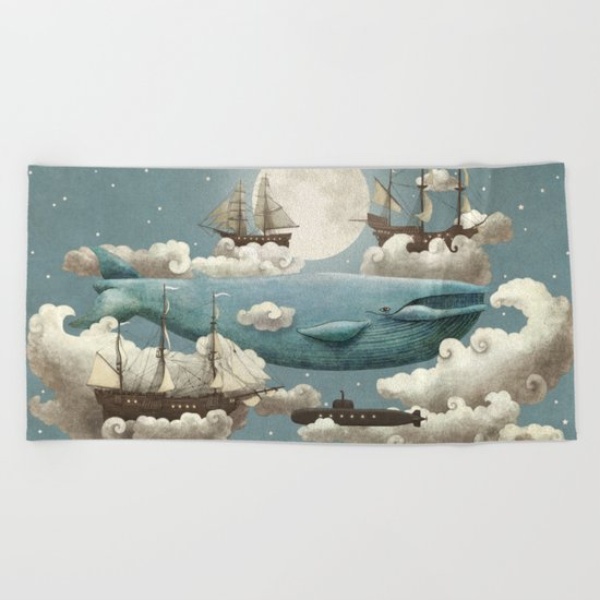 Ocean Meets Sky - colour option Beach Towel