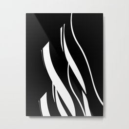 Organic No. 17 Black & White Graphic Art #minimalism #decor #society6 Metal Print