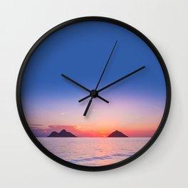 Lanikai Sunrise Wall Clock