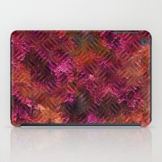 Imprinted Shocking Pink Metal Look iPad Case