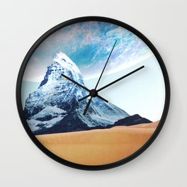 Worlds Colliding Wall Clock