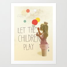 Let the children play Art Print