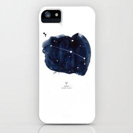 Zodiac Star Constellation - Aries iPhone Case