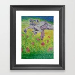 Dum Sprintin' Spero Framed Art Print
