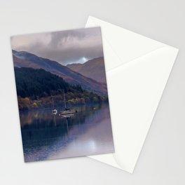 Argyll Scotland loch peaceful boats Stationery Cards