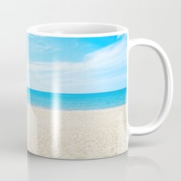 Beautiful empty sea beach background Coffee Mug