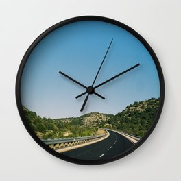 (the open road) Wall Clock