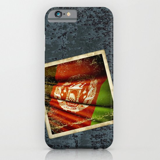 Grunge sticker of Afghanistan flag iPhone & iPod Case