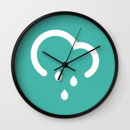 Light Shower - Better Weather Wall Clock