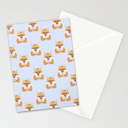 Low poly fox pattern Stationery Cards