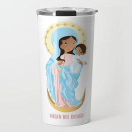 Our lady of the Rosary Travel Mug