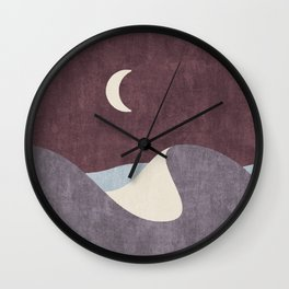 LANDSHAPES / Desert - Night Wall Clock
