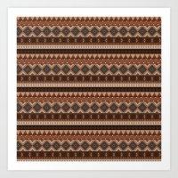 Earthy Tribal Art Print