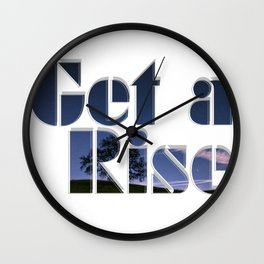 Get a Rise Wall Clock