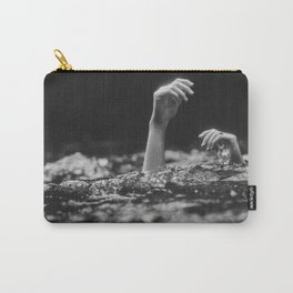 She Needs Help (Black and White) Carry-All Pouch