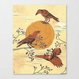 JINWU (three-legged crows) Canvas Print