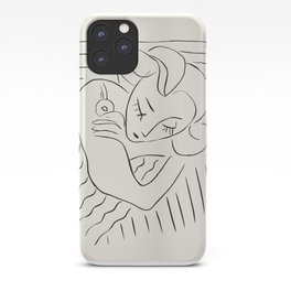 Vintage poster-Henri Matisse-Linear drawings. iPhone Case