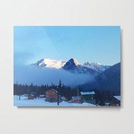 A Winter Mornng at Summit at Snoqualmie Metal Print